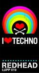 REDHEAD - I Love Techno (Back Cover)