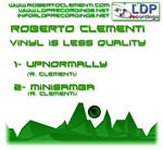 CLEMENTI, Roberto - Vinyl Is Less Quality (Front Cover)