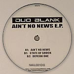 DUO BLANK - Ain't No News EP (Back Cover)