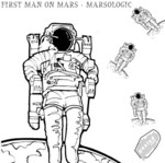 FIRST MAN ON MARS - FAT (Front Cover)