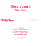 SVENSK, Roed - Que Pasa (Front Cover)