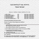 BARTLETT, Alex feat ANTHYA - Touch The Sun (Back Cover)