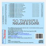 MAHJONG/D'LAYNA - So Thankful (Back Cover)