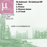 DJ AAKMAEL - DJ Aakmael EP (Front Cover)