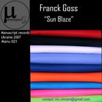GOSS, Franck - Sun Blaze (Front Cover)