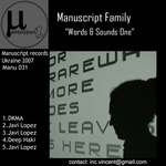 MANUSCRIPT FAMILY - Words & Sounds 1 (Front Cover)