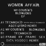 WOMAN AFFAIR - My Cousin's Blowjobs EP (Back Cover)