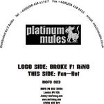 PLATINUM MULES - Broke (Back Cover)