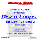 DJ UNDERCOVER - Disco Loops For DJ's Volume 2 (Front Cover)