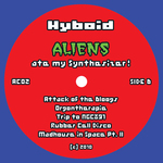HYBOID - Aliens Ate My Synthesizer! (Back Cover)