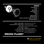 WRONG PLANET - Error (Back Cover)