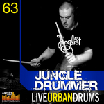 JUNGLE DRUMMER - Live Urban Drums (Sample Pack WAV/APPLE/LIVE/REASON) (Front Cover)