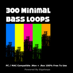 GIGALOOPS - 300 Minimal Bass Loops (Sample Pack WAV/REX) (Front Cover)