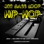 GIGALOOPS - 300 Hip Hop Bass Loops (Sample Pack WAV/REX) (Front Cover)