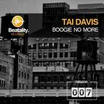 DAVIS, Tai - Boogie No More (Front Cover)