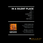 CJMANN - In A Silent Place (Back Cover)