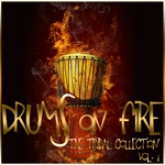 VARIOUS - Drums On Fire (The Tribal Collection Vol 1) (Front Cover)