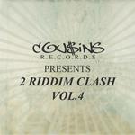 VARIOUS - Cousins Records Presents 2 Riddim Clash Vol 4 (Front Cover)