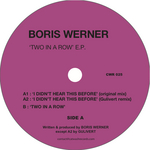 WERNER, Boris - Two In A Row EP (Back Cover)
