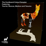 MOSHUN/RESCUE/TOURIST/YASUMO - The Cardboard Cutout Sampler (Front Cover)