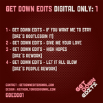 GET DOWN EDITS - Digital Only Vol 1 (Back Cover)