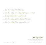 SWARM INTELLIGENCE - On The Edge (remixes) (Back Cover)