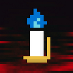8 BIT BANDIT - Blue Candle (Front Cover)