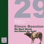 BEESTON, Simon - We Want Words (Front Cover)