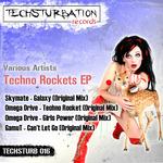 SKYMATE/OMEGA DRIVE/GAMUT - Techno Rockets EP (Front Cover)