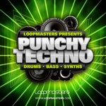 LOOPMASTERS - Punchy Techno (Sample Pack WAV/APPLE/LIVE/REASON) (Front Cover)