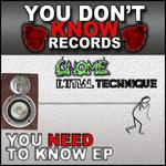 GNOME & INITIAL TECHNIQUE - You Need To Know (Front Cover)