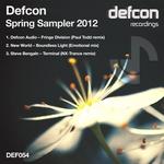 DEFCON AUDIO/NEW WORLD/STEVE BENGALN - Defcon Spring Sampler 2012 (Front Cover)