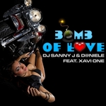 DJ SANNY J/D@NIELE feat XAVI ONE - Bomb Of Love (Front Cover)