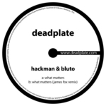 HACKMAN/BLUTO - What Matters (Front Cover)