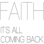 FAITH - It's All Coming Back (Front Cover)