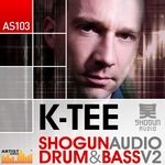 K-TEE - Shogun Audio Drum & Bass Vol 2 (Sample Pack WAV/APPLE/LIVE/REASON) (Front Cover)
