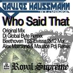 HAUSSMANN, Davide - Who Said That (Front Cover)