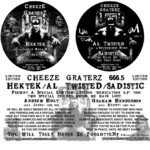 HEKTEK/SADISTIC/AL TWISTED - Cheeze Graterz 666 5 (Front Cover)