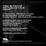 VESCUCCI, Aldo meets D PUNK - Taken By Force EP (Back Cover)