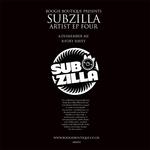SUBZILLA - Artist EP Four (Back Cover)