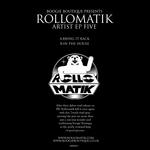 ROLLOMATIK - Artist EP Five (Back Cover)