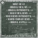 LIONDUB feat JAHDAN/METRIC MAN - Money Me Say (Back Cover)