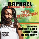 RAPHAEL/FRIENDLY FIRE BAND - Total Destruction Remixes (Back Cover)