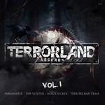 VIZITOR, The/NOIZEFUCKER/TERRORLAND TEAM/PARANOIZER - Terrorland Records Vol 1 (Front Cover)