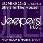 SONIKROSS feat SARA K - She's In The House (Front Cover)