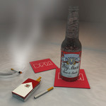 MIJ MACK - Beer & Smoke (Front Cover)