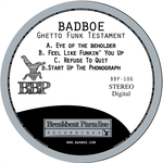 BADBOE - Ghetto Funk Testament (Front Cover)
