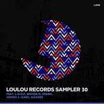 MISHQA/LOOP/SINNER & JAMES/MAKREE - LouLou Records Sampler Vol 30 (Front Cover)