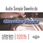 AUDIO SAMPLE DOWNLOADS - Character Drums (Sample Pack WAV) (Front Cover)
