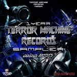 VARIOUS - 1 Year Terror Machine Records Album (Front Cover)
